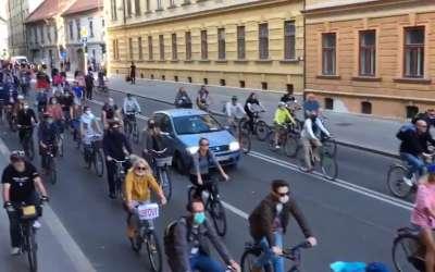 Protest biciklista u Sloveniji