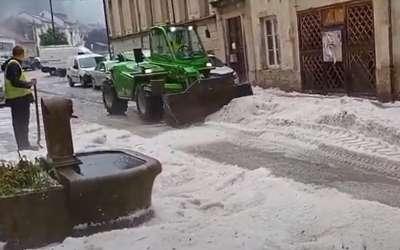Sneg u leto u Francuskoj