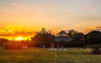 Zalazak sunca na tamiškom keju Pančevo
