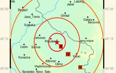 Zemljotres Plandište Vršac